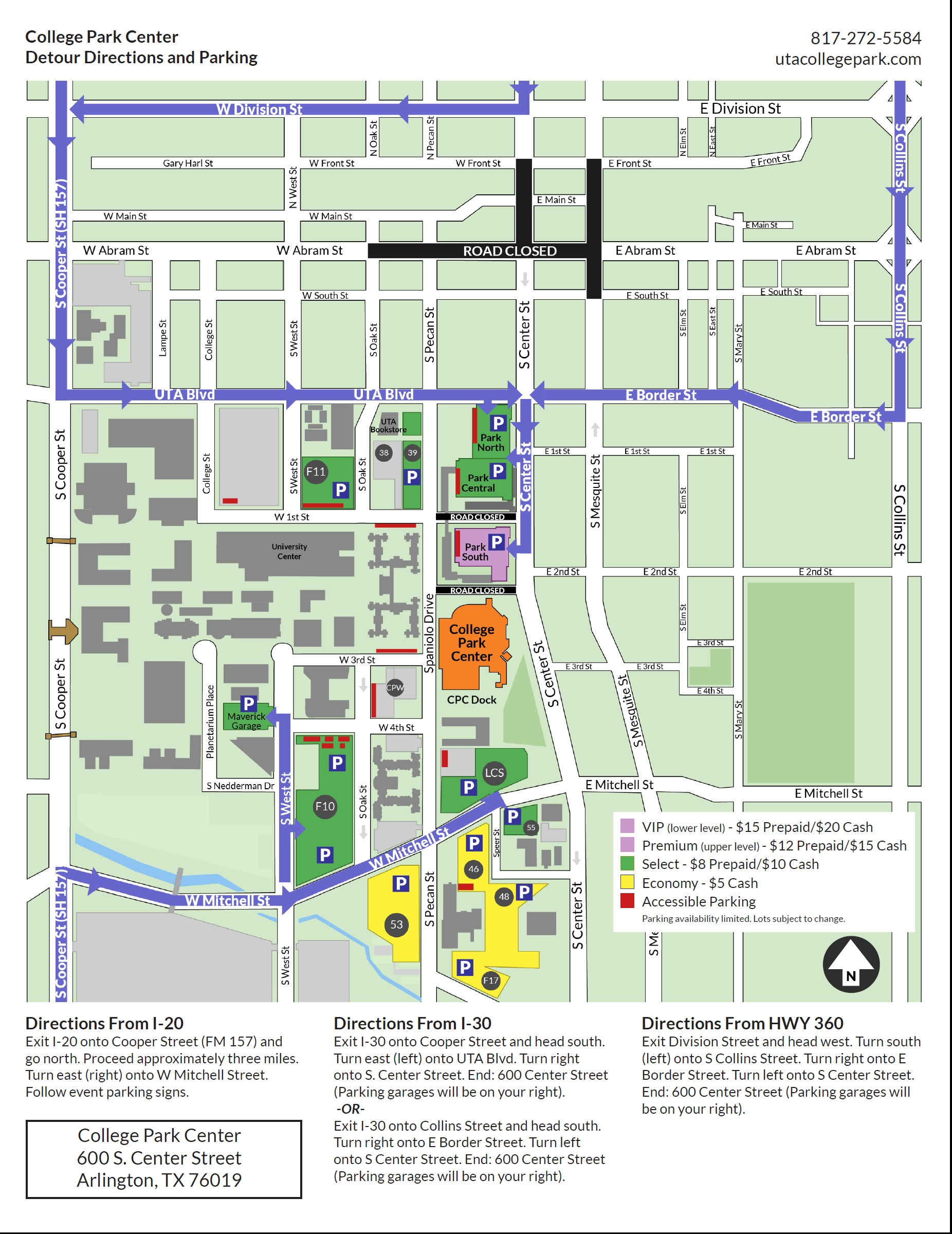 casting crowns parking map directions and road closures