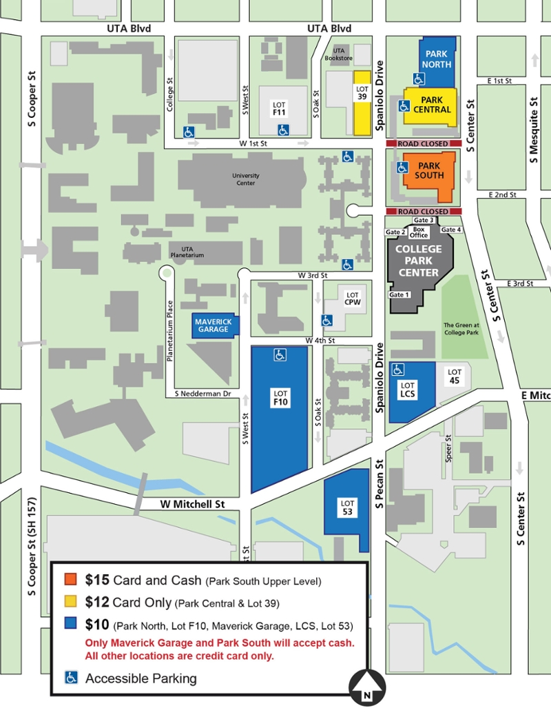 for KING & COUNTRY parking map